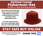 Knitted Casual Fisherman Hat