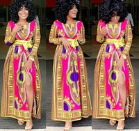 Ethnic Print Dashiki African Dress Flamingo African Dresses