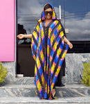 STYLISH  Hooded Striped  Colorful Dashiki Robe