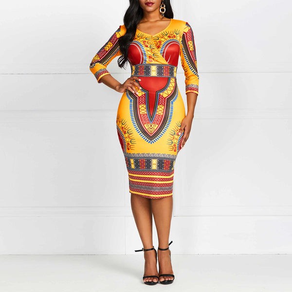WAKANDA FOREVER Ethnic African Dress