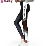 2019 Fashion Print Letter VS Pink Legging Women High Waist Slim Fitness Leggings Workout Pants Adventure Time Trousers