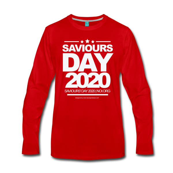 SAVIOURS DAY 2020 UNISEX Premium Long Sleeve T-Shirt - red