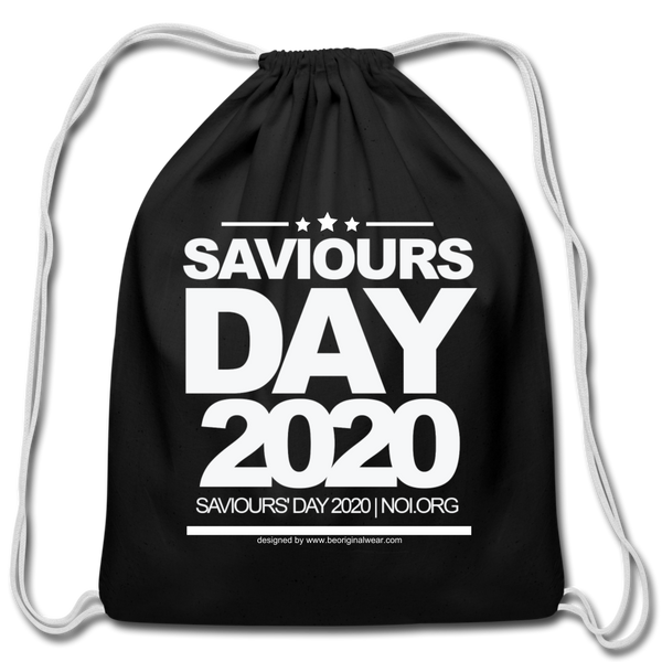 SAVIOURS DAY 2020 Cotton Drawstring Bag - black