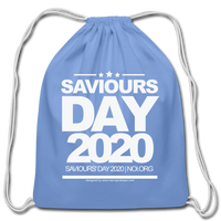 SAVIOURS DAY 2020 Cotton Drawstring Bag - carolina blue