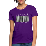 HIP HOP MADE ME Women's T-Shirt - purple