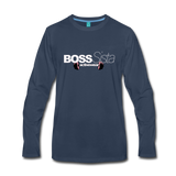 Womens Boss Sister Activewear Long Sleeve T-Shirt - navy