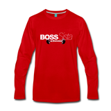 Womens Boss Sister Activewear Long Sleeve T-Shirt - red