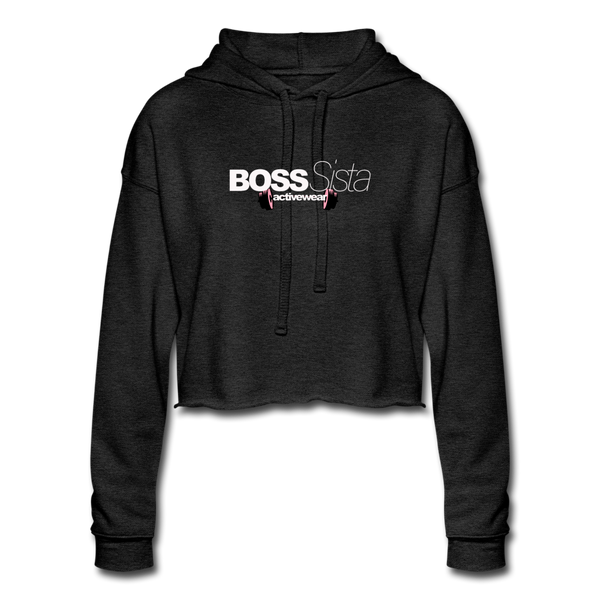 Women's Boss Sista Cropped Hoodie - deep heather