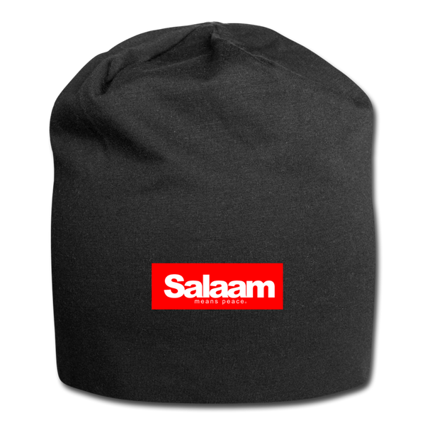 Salaam Means PEACE Beanie - black