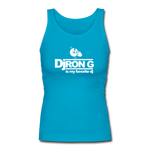 Dj Ron G is My Favorite DJ Longer Length Fitted Tank - turquoise