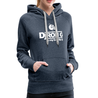 Women's Dj Ron G is My Favorite DJ Hoodie - heather denim