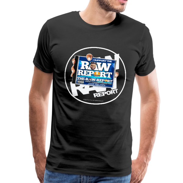 Support The RAW REPORT UNISEX Premium T-Shirt - black