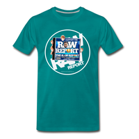 Support The RAW REPORT UNISEX Premium T-Shirt - teal