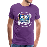 Support The RAW REPORT UNISEX Premium T-Shirt - purple