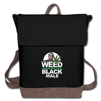 WEED FEMINIZES THE BLACK MALE Canvas Backpack - black/brown