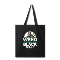 WEED FEMINIZES THE BLACK MALE Tote Bag - black