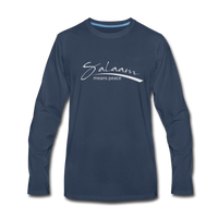 Salaam means peace Premium Long Sleeve T-Shirt - navy