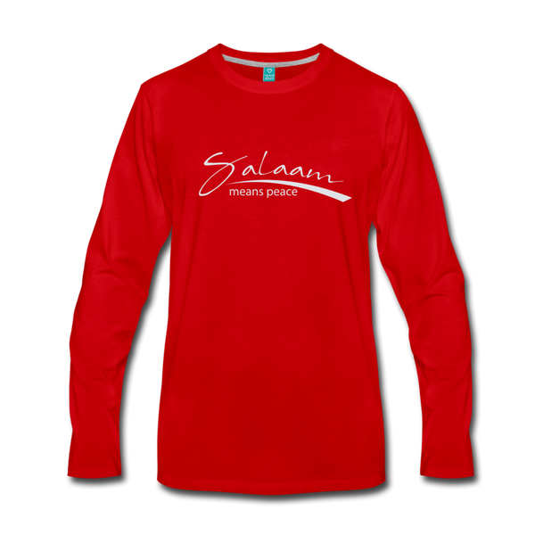 Salaam means peace Premium Long Sleeve T-Shirt - red