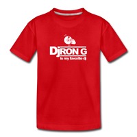 Children's DJ Ron G is My Favorite Dj  Premium T-Shirt - red