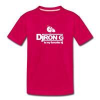 Children's DJ Ron G is My Favorite Dj  Premium T-Shirt - dark pink
