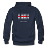 BE YOURSELF BE ORIGINAL Heavy Blend Adult Hoodie - navy