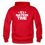 Its NATION TIME Heavy Blend Adult Hoodie - red