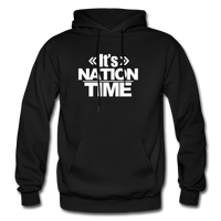 Its NATION TIME Heavy Blend Adult Hoodie - black