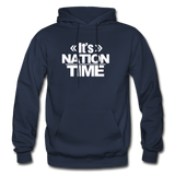 Its NATION TIME Heavy Blend Adult Hoodie - navy