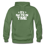 Its NATION TIME Heavy Blend Adult Hoodie - military green