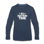 IT NATION TIME Premium Long Sleeve T-Shirt - navy
