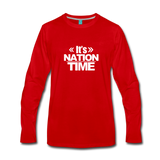 IT NATION TIME Premium Long Sleeve T-Shirt - red