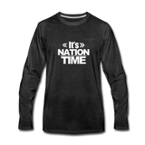 IT NATION TIME Premium Long Sleeve T-Shirt - charcoal gray