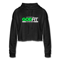 God FIT ACTIVEWEAR  Cropped Hoodie - deep heather