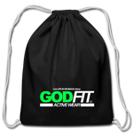 God FIT ACTIVEWEAR Cotton Drawstring Bag - black