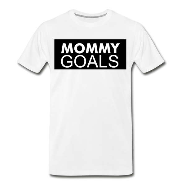 MOMMY GOALS Premium T-Shirt - white