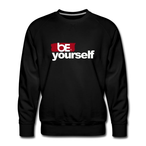 BE YOURSELF Premium Sweatshirt - black