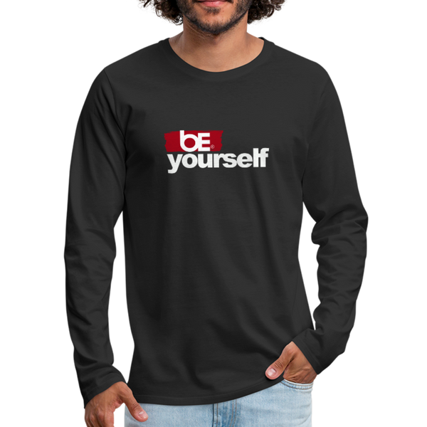 BE YOURSELF Premium Long Sleeve T-Shirt - black
