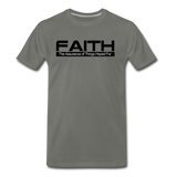 FAITH Premium T-Shirt - asphalt gray