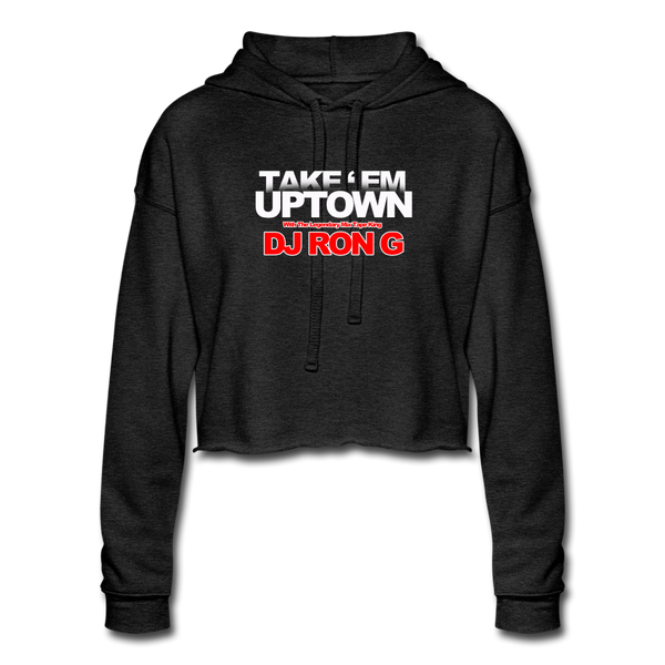 Take em UPTOWN WOMENS Cropped Hoodie - deep heather