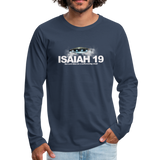 Isaiah 19 Premium Long Sleeve T-Shirt - navy