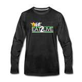 WE EAT TO LIVE Premium Long Sleeve T-Shirt - charcoal gray