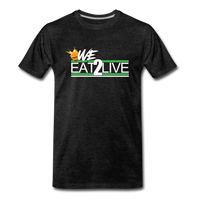 WE EAT TO LIVE Premium T-Shirt - charcoal gray