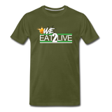 WE EAT TO LIVE Premium T-Shirt - olive green
