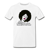 ALL NATURAL BABY Premium T-Shirt - white