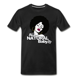 ALL NATURAL BABY Premium T-Shirt - black
