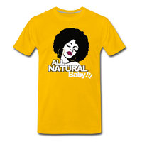 ALL NATURAL BABY Premium T-Shirt - sun yellow