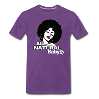 ALL NATURAL BABY Premium T-Shirt - purple