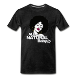 ALL NATURAL BABY Premium T-Shirt - charcoal gray