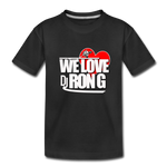 WE LOVE DJ RON G Kids' Premium T-Shirt - black