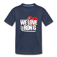 WE LOVE DJ RON G Kids' Premium T-Shirt - navy